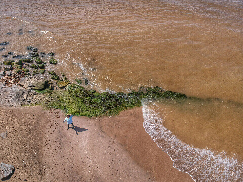 Drone view of the beach