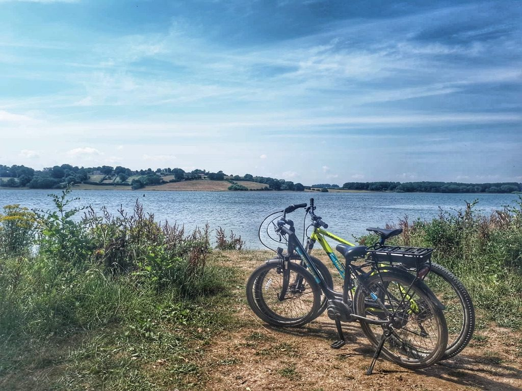 Biking around Rutland Waters
