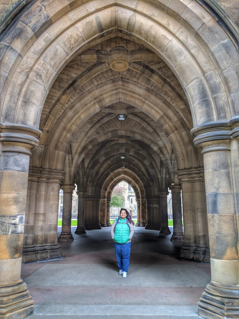 Cloisters at University of Glasgow