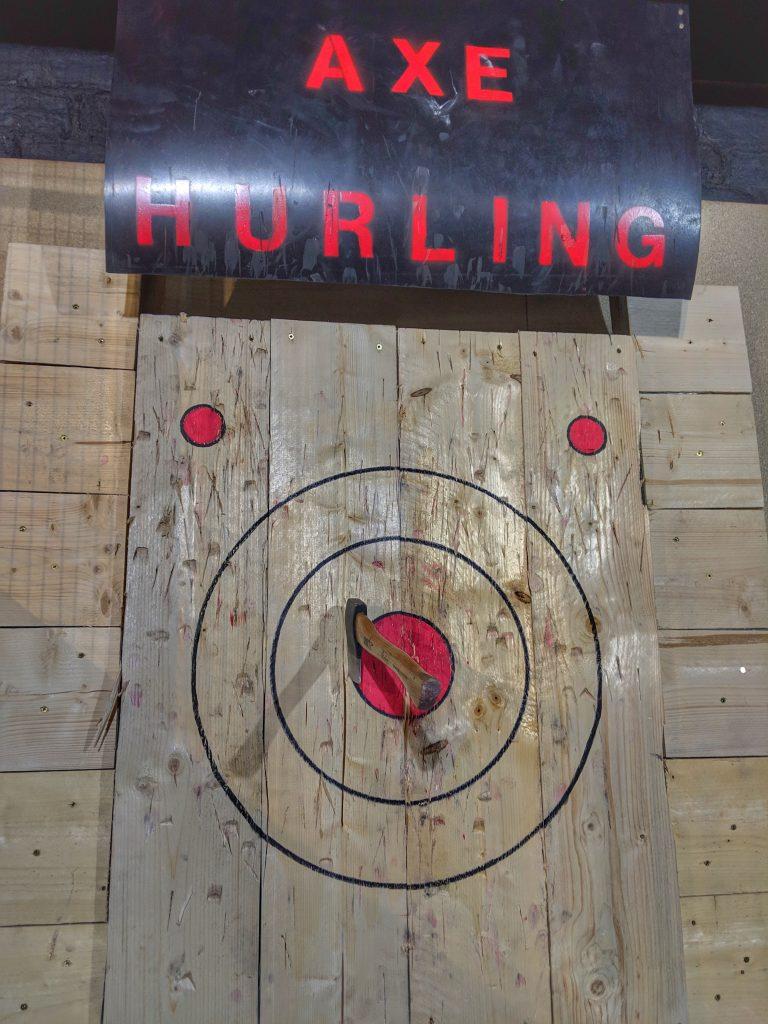 Bullseye - Axe hurling experience