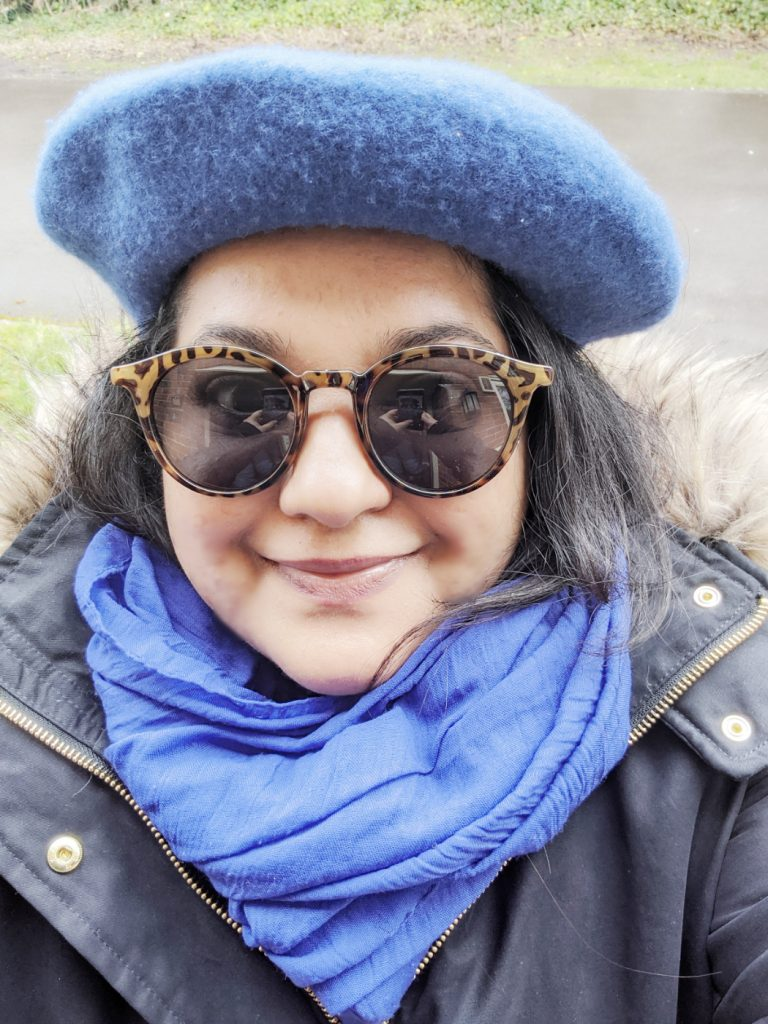 Blue Sunglasses and Scarf / stylish travel clothes